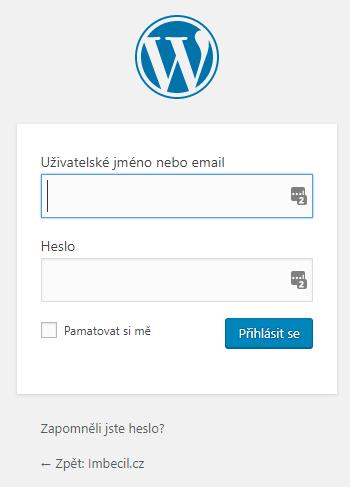 Přihlášení do WordPresssu